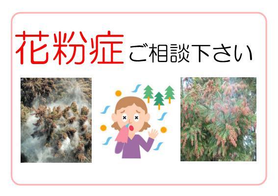 花粉症ご相談下さい